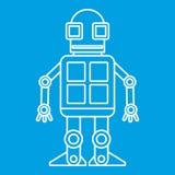 Icône de robot d'Android, style d'ensemble Photographie stock