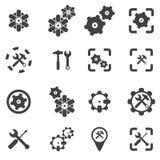 Icône de roue de dent Images stock