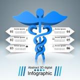 Icône de santé infographic 3D médical Photographie stock