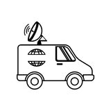 icône de satellitte van vehicle Photo libre de droits