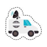 icône de satellitte van vehicle Images stock