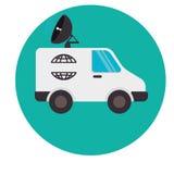 icône de satellitte van vehicle Photographie stock libre de droits