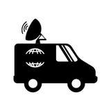 icône de satellitte van vehicle Photos libres de droits