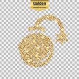 Icône de scintillement d'or Images stock