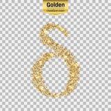 Icône de scintillement d'or Photographie stock libre de droits