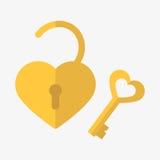 Icône de serrure de coeur Photo libre de droits