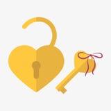 Icône de serrure de coeur Photos stock