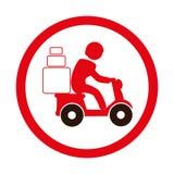 icône de service de distribution de moto Photos libres de droits