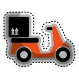 icône de service de moto de la livraison Images stock