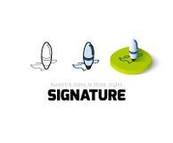 Icône de signature dans le style différent Photos libres de droits