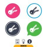 Icône de signe de clés Ouvrez le symbole d'outil Photos libres de droits