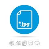Icône de signe de JPG de dossier Fichier image de téléchargement Photographie stock libre de droits