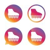 Icône de signe de patins de rouleau Fait du roller le symbole Photos stock