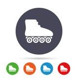 Icône de signe de patins de rouleau Fait du roller le symbole Photographie stock libre de droits