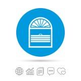 Icône de signe de plissé d'auvents Jalousie d'abat-jour de fenêtre illustration stock