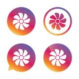 Icône de signe de ventilation Symbole de ventilateur Image stock