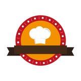 Icône de silhouette de chapeau de chef Photo stock