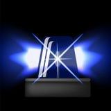Icône de sirène Éclair bleu de secours Alarme de voiture Image libre de droits