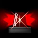 Icône de sirène Éclair rouge de secours Symbole d'alarme de voiture illustration libre de droits