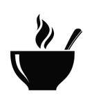 Icône de soupe illustration stock
