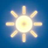 Icône de Sun Photos stock