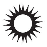 Icône de Sun Photographie stock