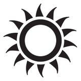 Icône de Sun Images stock