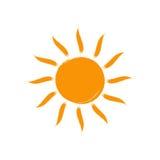 Icône de Sun de vecteur D'isolement sur le blanc Image stock