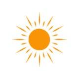 Icône de Sun de vecteur D'isolement sur le blanc Photographie stock libre de droits