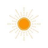 Icône de Sun de vecteur D'isolement sur le blanc Photos libres de droits