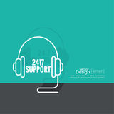 Icône de support technique Image libre de droits