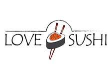 Icône de sushi d'amour Image libre de droits