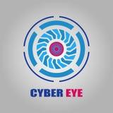 Icône de symbole d'oeil de Cyber illustration stock