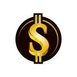 icône de symbole dollar Photos libres de droits