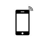Icône de téléphone portable Image stock