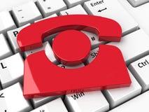Icône de téléphone sur le clavier Image libre de droits