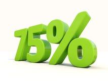 icône de taux de pourcentage de 75% sur un fond blanc Images libres de droits