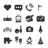 Icône de temps gratuit d'adolescent Images stock