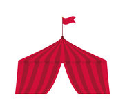 Icône de tente Cirque et conception de carnaval Dessin de vecteur illustration de vecteur