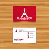 Icône de Tour Eiffel Symbole de Paris Images stock