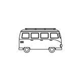 icône de tourism van vehicle Photos libres de droits
