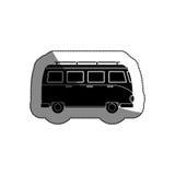 icône de tourism van vehicle Photographie stock