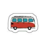icône de tourism van vehicle Photos stock