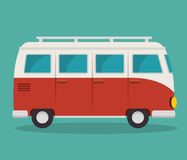 icône de tourisme de van vehicle Images libres de droits