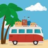 icône de tourisme de van vehicle Photos libres de droits