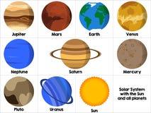 Icône de toutes les planètes illustration de vecteur