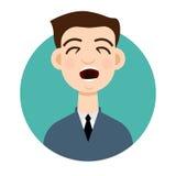 Icône de toux Homme de toux Illustration de vecteur Photo stock