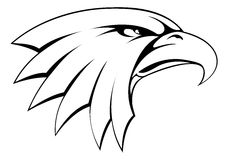 Icône de tête d'aigle chauve Photographie stock libre de droits