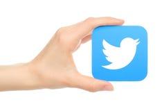 Icône de Twitter de prises de main