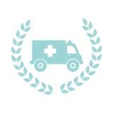 icône de véhicule de secours d'ambulance Photo libre de droits